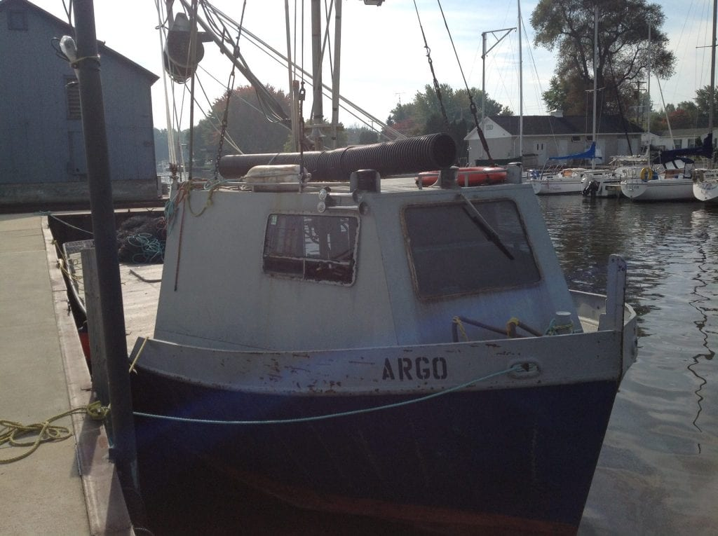 Bay Port Fish Company Boat Named Argo - Caseville Harbor in the Fall